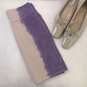 Dresses & Skirts - Cream & purple skirt